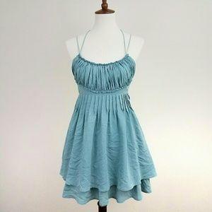 Anthro JOA Aqua Strappy Dress
